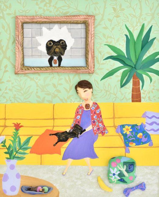 愛犬とのオーダーメイドアート  お嫁入りしました。